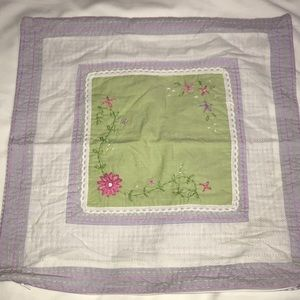 Pottery Barn Kids 16x16 Embroidered Lace Floral